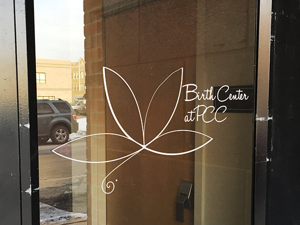 3. Birth Center Door Logo PCC