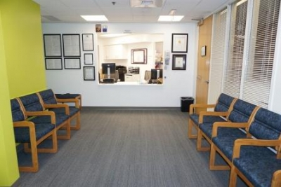 Waiting area at PCC Community Wellness Center at West Suburban