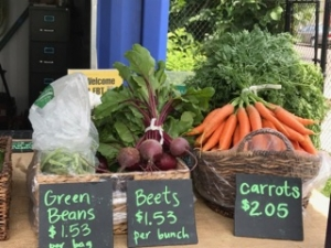 Produce for sale at the PCC Austin Farm Stand